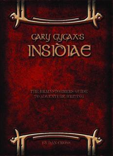 Gary Gygax's Insidiae: The Brainstormers Guide to Adventure Writing
