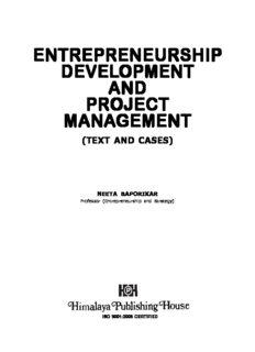 entrepreneurship development and project management