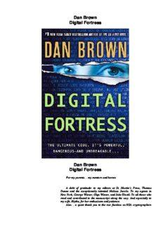 Dan Brown Digital Fortress Dan Brown Digital Fortress