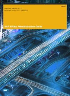 SAP HANA Administration Guide - SAP Help Portal