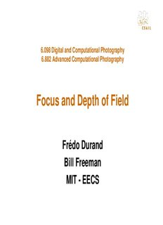 Focus and Depth of Field