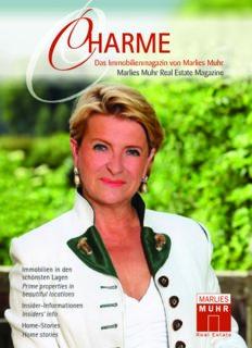 Das Immobilienmagazin von Marlies Muhr C Marlies Muhr Real Estate Magazine