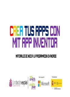 Crea tus Apps para Android con MIT App Inventor. Archivo