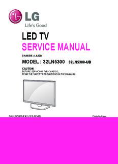 LED TV SERVICE MANUAL - lcd-television-repair.com