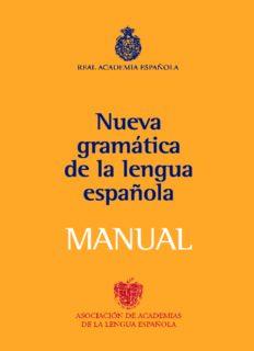 Manual de la Nueva Gramática de la Lengua Española