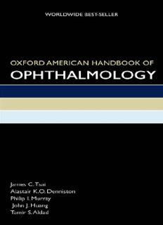 Oxford American Handbook of Ophthalmology (Oxford American Handbooks in Medicine)