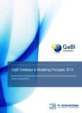 GaBi Database & Modelling Principles 2013 - GaBi Software