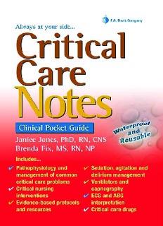 Critical Care Critical Care Notes