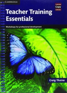 Teacher Training Essentials. Workshops for Professional Development
