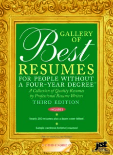 Gallery of Best Resumes for People Without a Four-Year Degree
