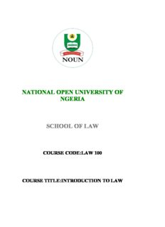 LAW 100 Introduction to law