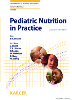 Pediatric Nutrition in Practice, 2nd Edition