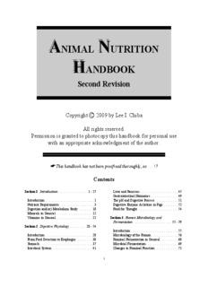 animal nutrition handbook
