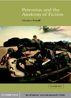 Petronius and the Anatomy of Fiction