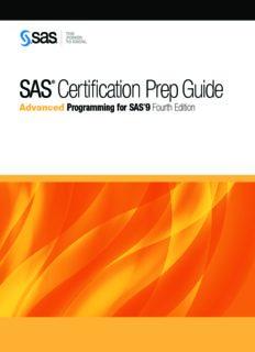 SAS Certification Prep Guide Advanced Programming for SAS 9, Fourth Edition.pdf