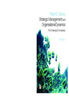 Strategic Management and Organisational Dynamics Ralph D. Stacey