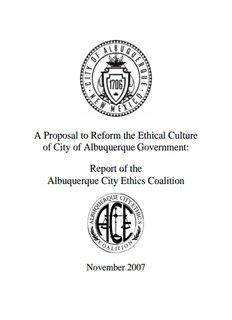 Report of the Albuquerque City Ethics Coalition - City of Albuquerque