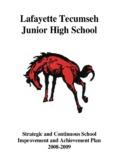 Lafayette Tecumseh Junior High School - Welcome to Lafayette