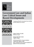 Government Law and Indian Law