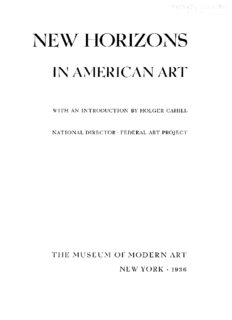 New horizons in American art; with an introduction by Holger Cahill