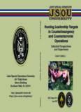 JSOU Report 07-6 Hunting Leadership T argets Turbiville