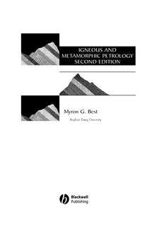Myron G. Best IGNEOUS AND METAMORPHIC PETROLOGY SECOND EDITION