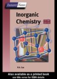 Instant Notes in Inorganic Chemistry (The Instant Notes Chemistry Series)