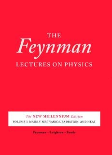 The Feynman Lectures on Physics, Vol. I,II,III The New Millennium Edition