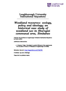 Woodland resources: ecology, policy and ideology; an historical case study of woodland use in ...