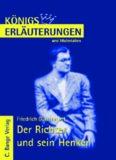 Erläuterungen zu Friedrich Dürrenmatt: Der Richter und sein Henker, 5. Auflage (Königs