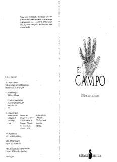 Mctaggart Lynne – El Campo