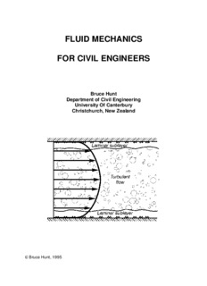 Fluid Mechanics for Civil Engineers - Department of Civil Engineering