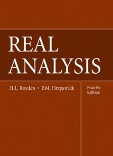 Royden - Fitzpatrick, Real Analysis