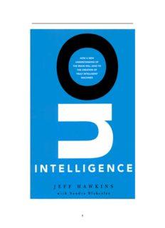 On Intelligence Jeff Hawkins with Sandra Blakeslee