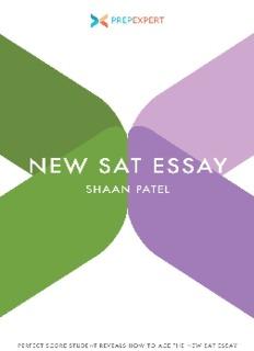 Prep Expert New SAT Essay
