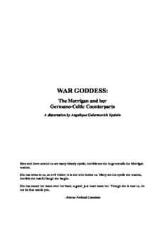 War Goddess - The Morrigan and her Germano-Celtic Counterparts