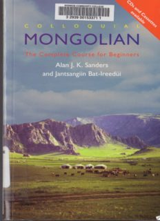 Colloquial Mongolian: The Complete Course for Beginners (Colloquial Series)