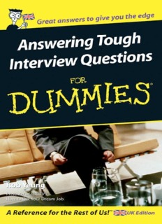Answering Tough Interview Questions