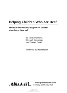 Helping Children Who Are Deaf (Hesperian Foundation) - Mobility