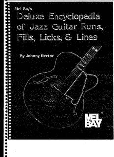 Mel Bay's Deluxe Encyclopedia of Jazz Guitar Runs, Fills, Licks & Lines