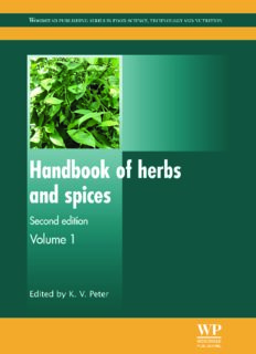 Handbook of herbs and spices Second edition Volume 1