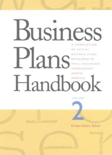 Business Plans Handbook, Volume 2: A Compilation of Actual Business Plans Developed By Small Businesses Throughout North America