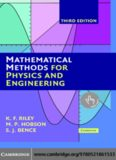 Mathematical Methods for Physics and Engineering: A Comprehensive Guide, 3rd Edition