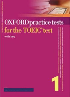 Oxford Practice Tests for the TOEIC Test 1 with Keys