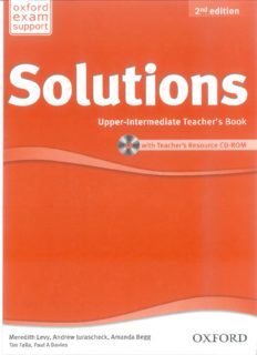 Page 1 oxford 2nd edition eX a ſm support Solutions Upper-Intermediate Teacher's Book with ...