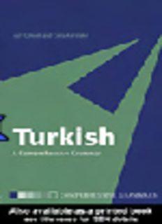 Turkish: A Comprehensive Grammar (Comprehensive Grammars)