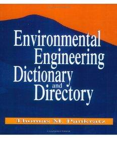 Environmental Engineering Dictionary and Directory
