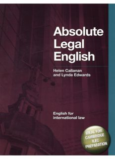 Absolute Legal English Book (English for International Law)