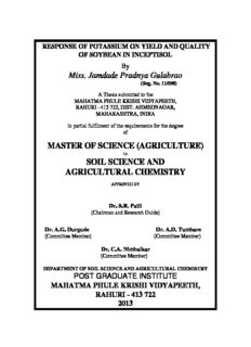 (AGRICULTURE) SOIL SCIENCE AND AGRICULTURAL CHEMISTRY