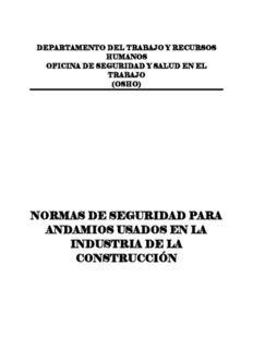 NORMAS DE SEGURIDAD PARA ANDAMIOS USADOS EN LA INDUSTRIA DE LA